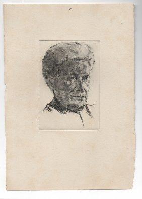 Original Etching By German Expressionist