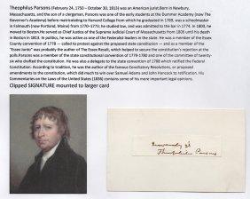 Theophilus Parsons (1750-1813) American Jurist