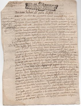 1709 French Mystery Document
