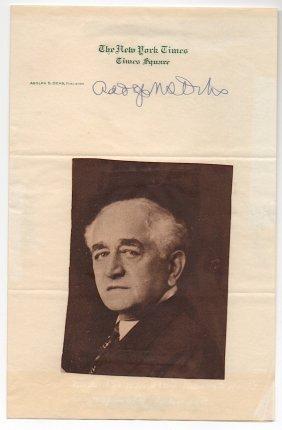 Adolph Simon Ochs (1858-1935)