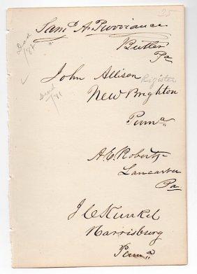 4 Penn. Congressmen