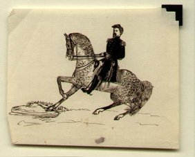 Drawing Of Union Cavalry Officer