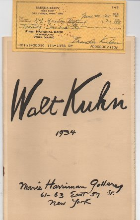 Walt Kuhn At The Marie Harriman Gallery 1934