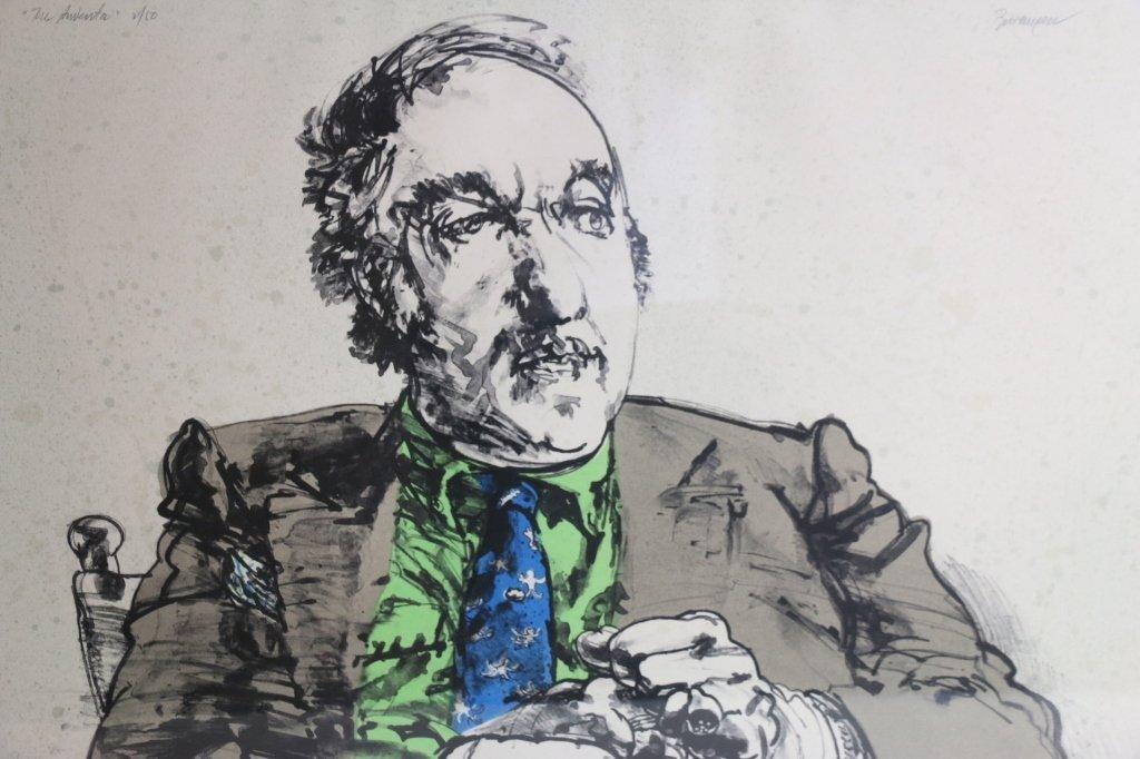 Harvey Breverman - Large Lithograph