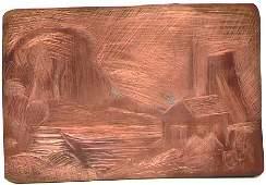 Original Copper Etching Plate - Walt Kuhn