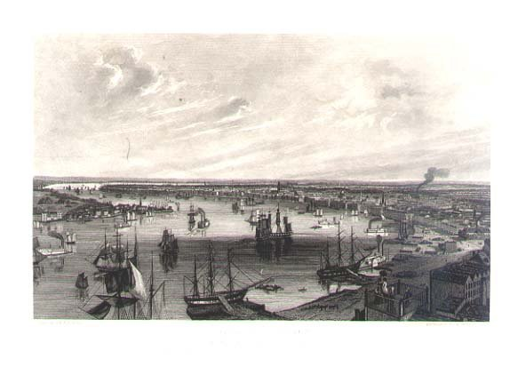 1854 engraving of New Orleans