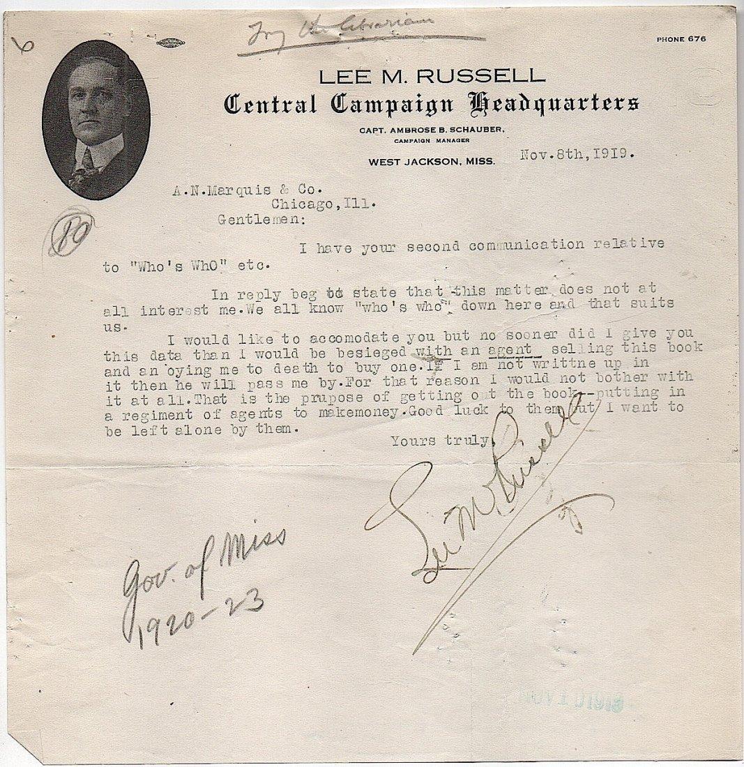 Lee M. Russell - Gov. Mississippi