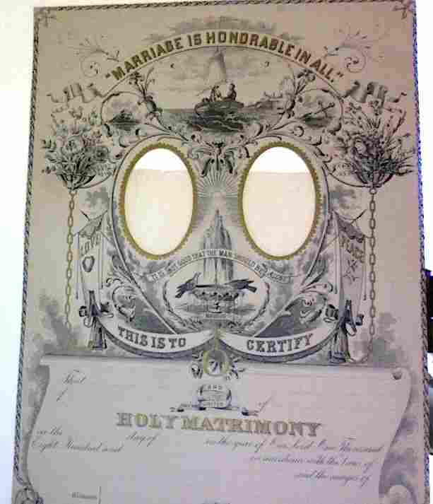 Victorian Marriage Certificate 1879