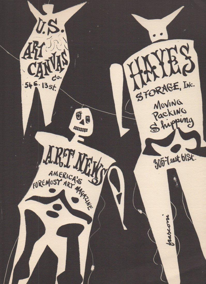 Antonio Frasconi (1919-2013) lithograph 1953