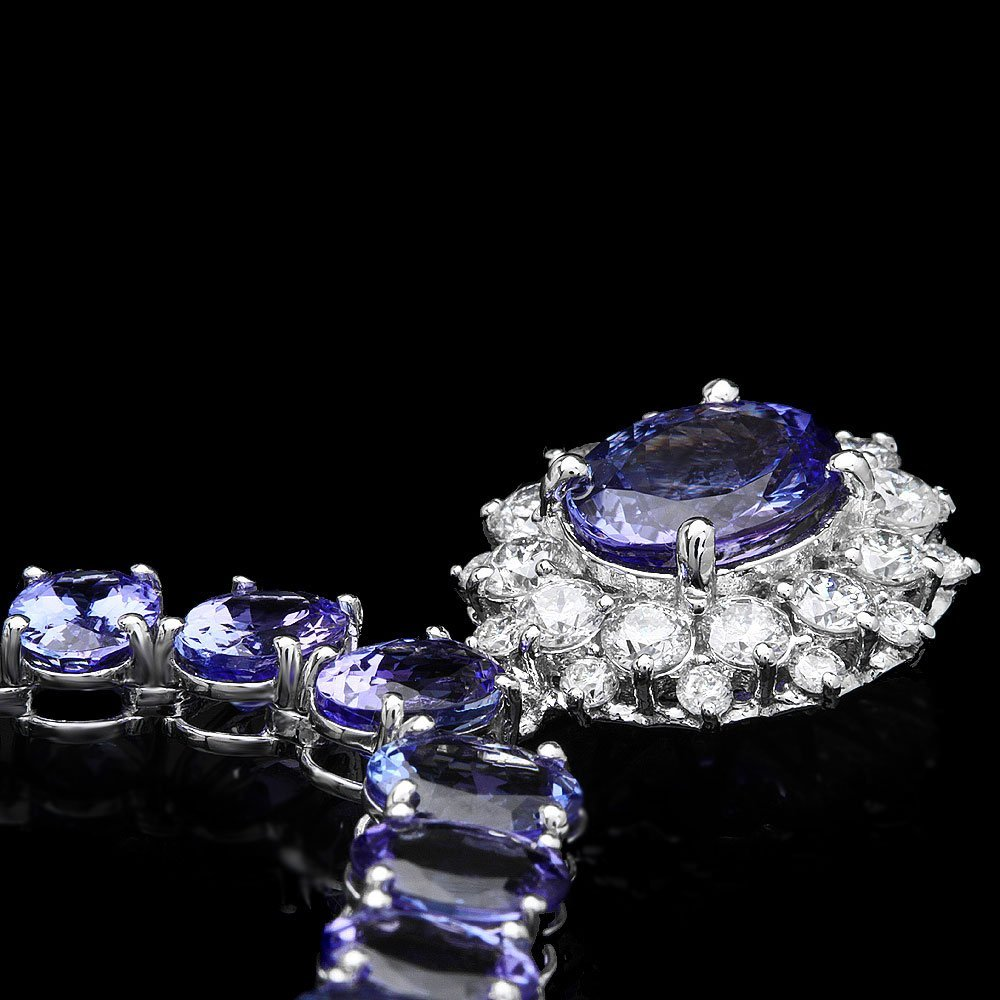 14k Gold 64.5ct Tanzanite 1.60ct Diamond Necklace