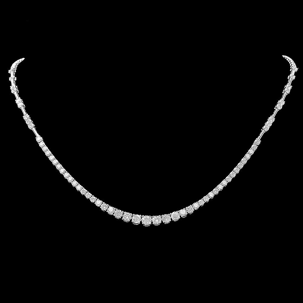 18k White Gold 5.80ct Diamond Necklace