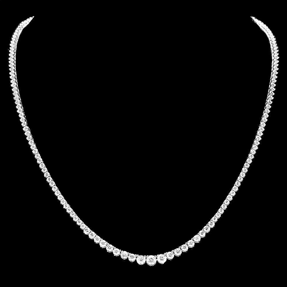 18k White Gold 7.80ct Diamond Necklace