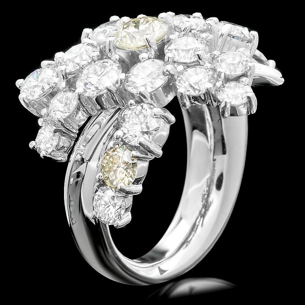 14k White Gold 4.80ct Diamond Ring
