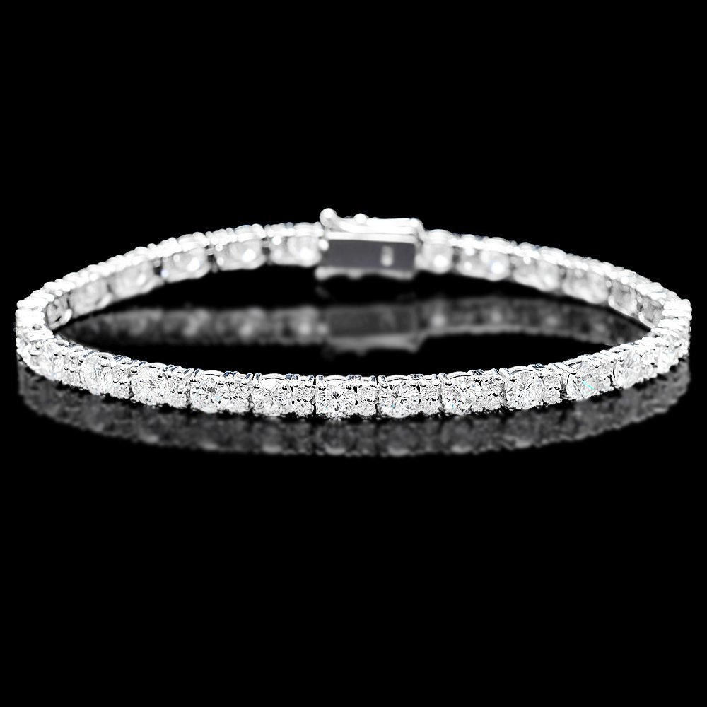 18k White Gold 8.70ct Diamond Bracelet