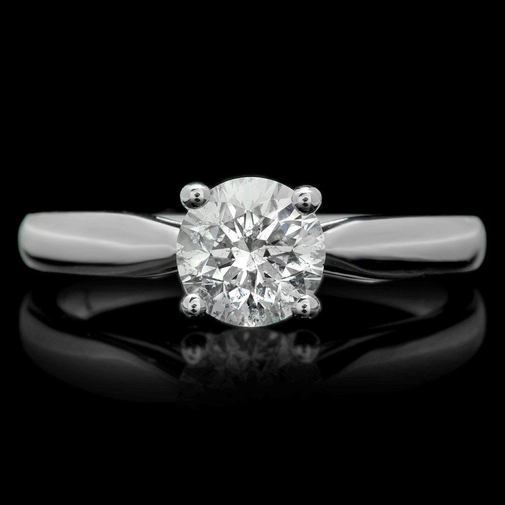 14k White Gold 1.04ct Diamond Ring