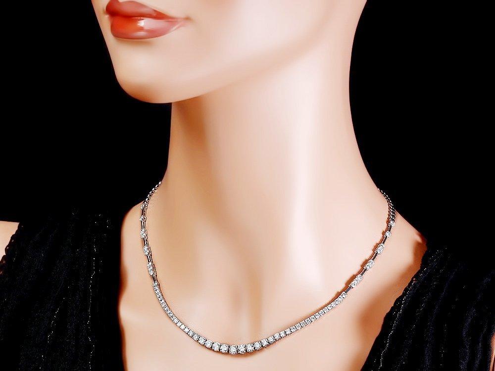 18k White Gold 6.00ct Diamond Necklace - 3