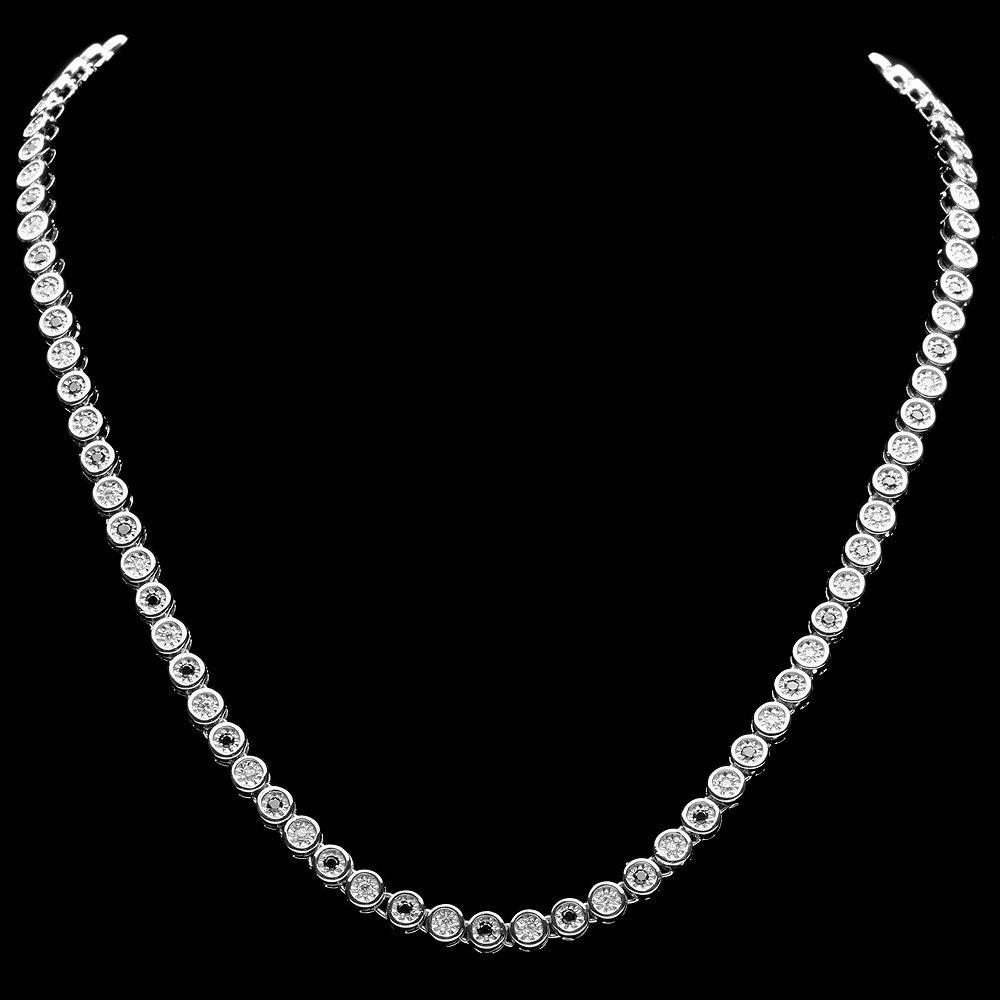 14k White Gold 2.42ct Diamond Necklace - 2