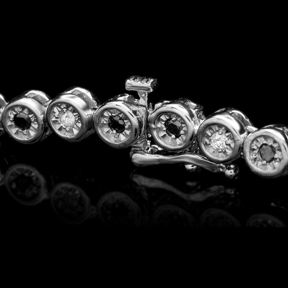 14k White Gold 2.42ct Diamond Necklace - 3