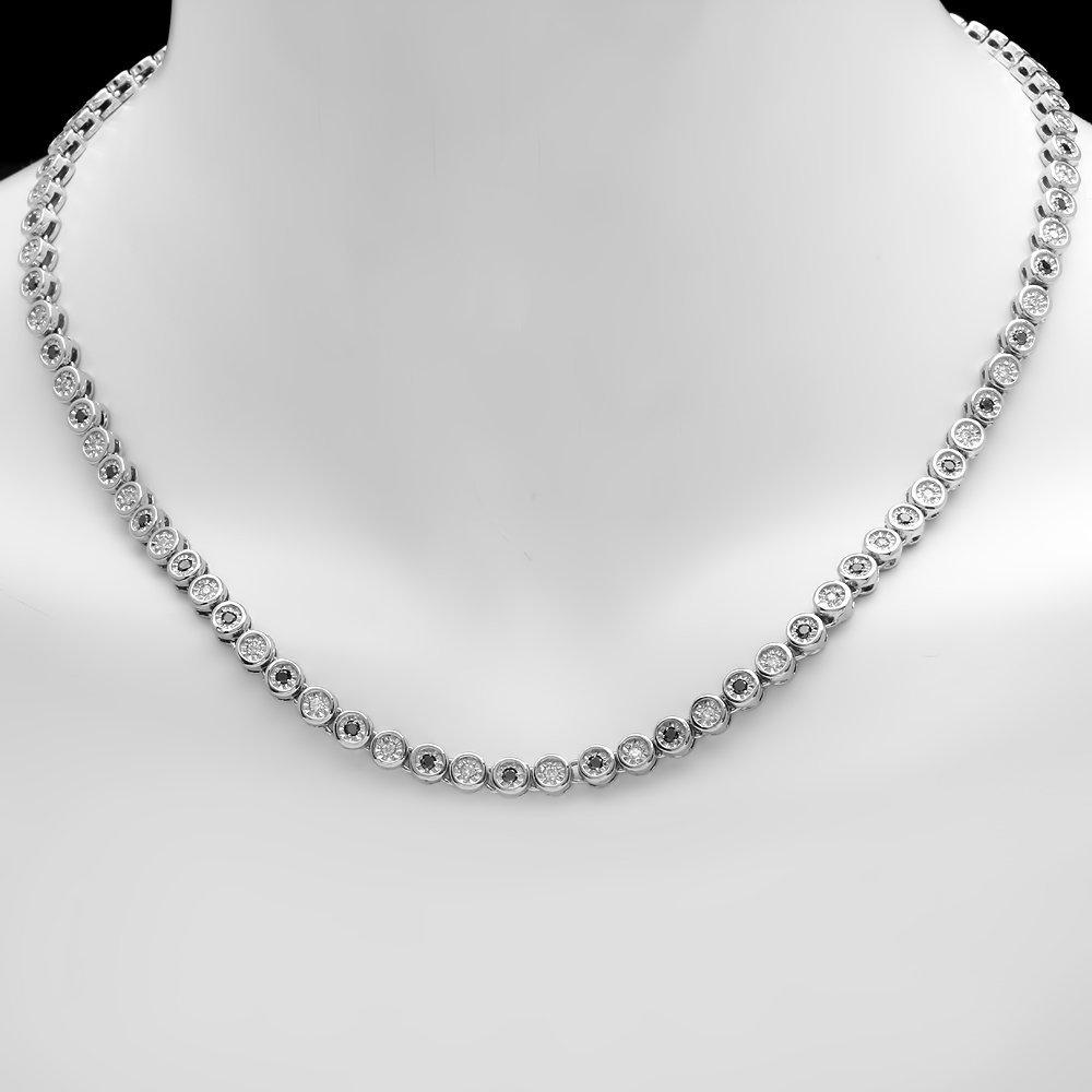 14k White Gold 2.42ct Diamond Necklace - 4