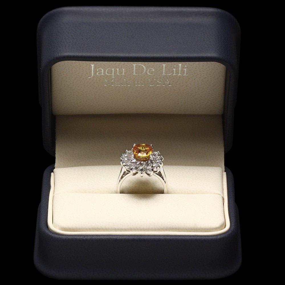14k Gold 2.75ct Sapphire 1.40ct Diamond Ring - 5