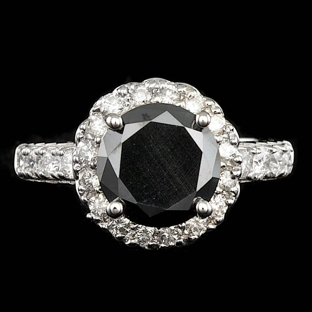 14k White Gold 3.45ct Diamond Ring