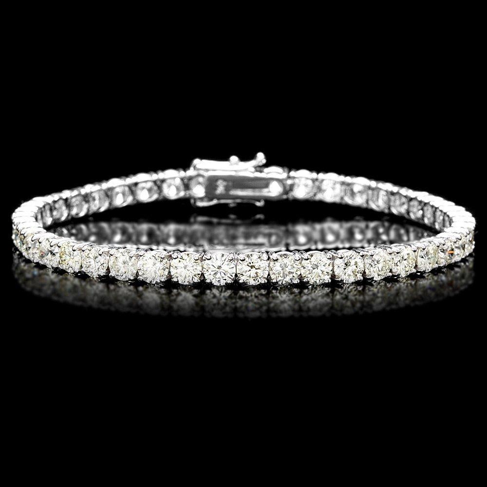 18k White Gold 12.00ct Diamond Tennis Bracelet