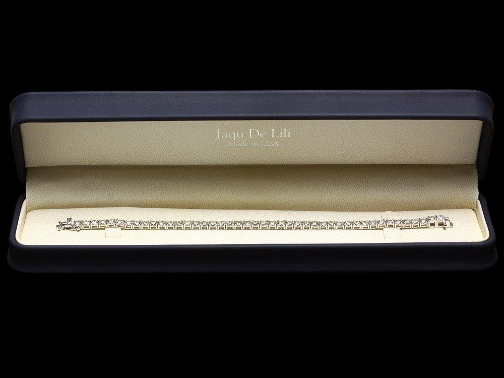 18k White Gold 12.00ct Diamond Tennis Bracelet - 6