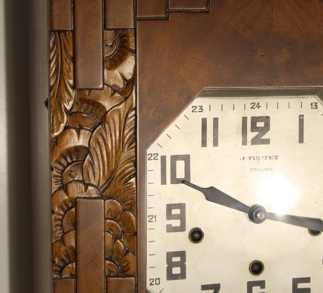 Vintage Art Deco French wall clock - 10