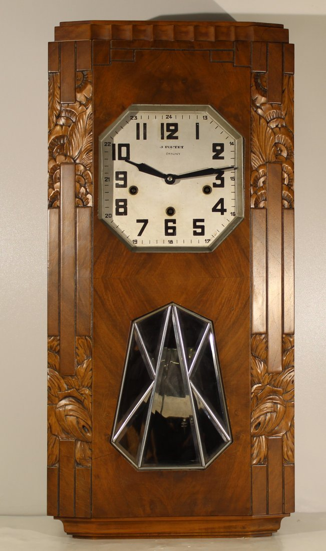 Vintage Art Deco French wall clock