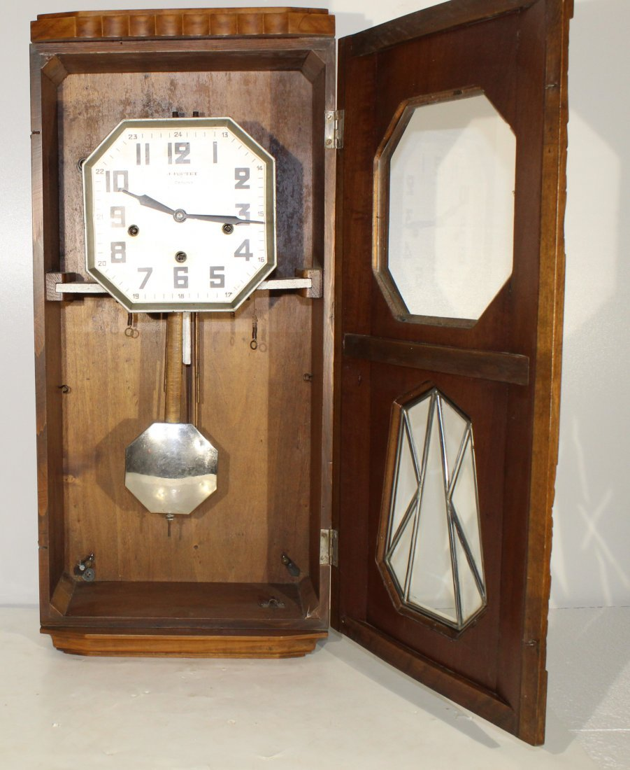 Vintage Art Deco French wall clock - 7