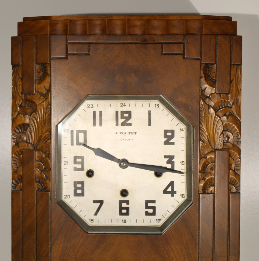 Vintage Art Deco French wall clock - 8