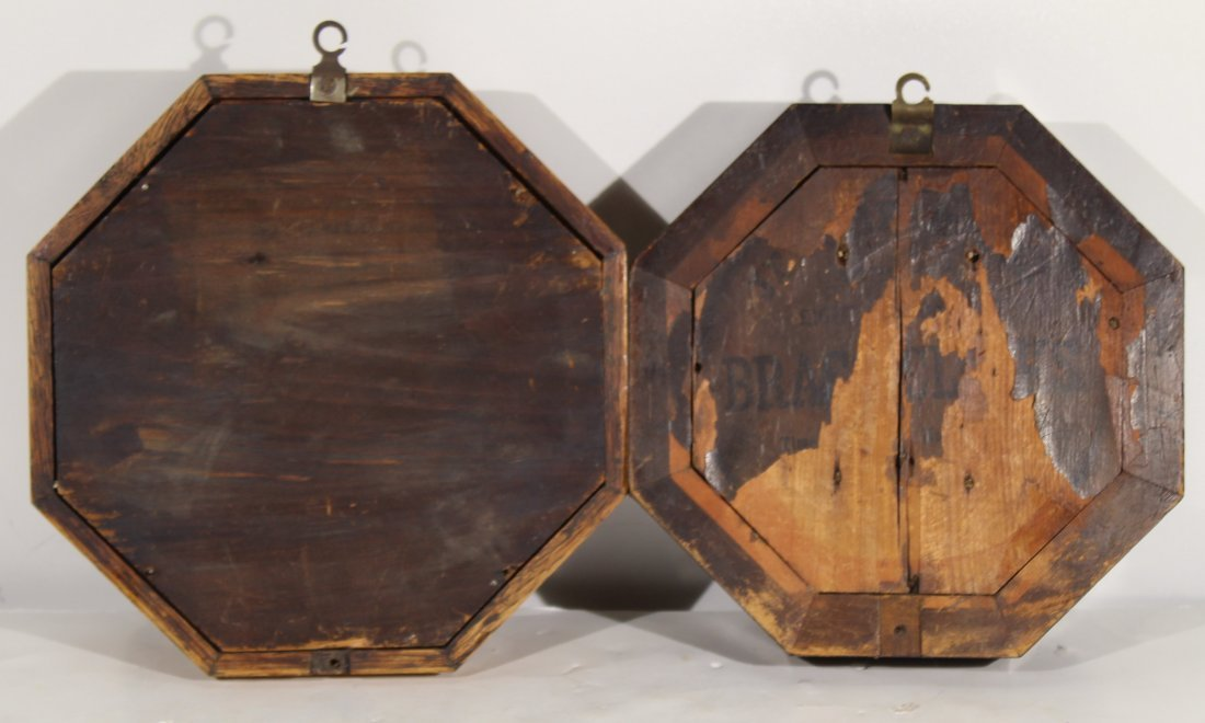 (2) Antique wood case wall clocks - 2