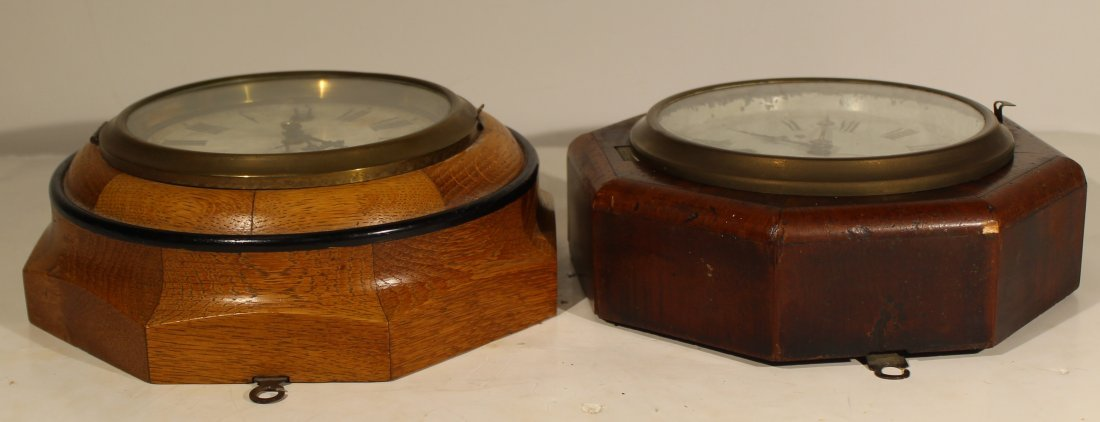 (2) Antique wood case wall clocks - 3