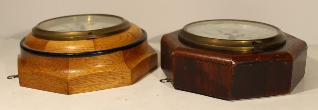 (2) Antique wood case wall clocks - 4