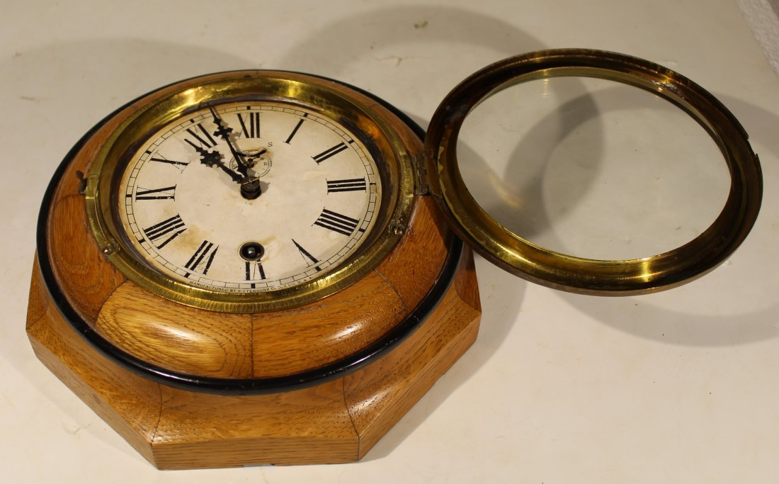 (2) Antique wood case wall clocks - 5