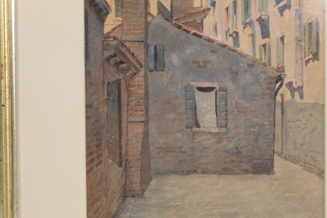 Original American or European cityscape watercolor - N - 6