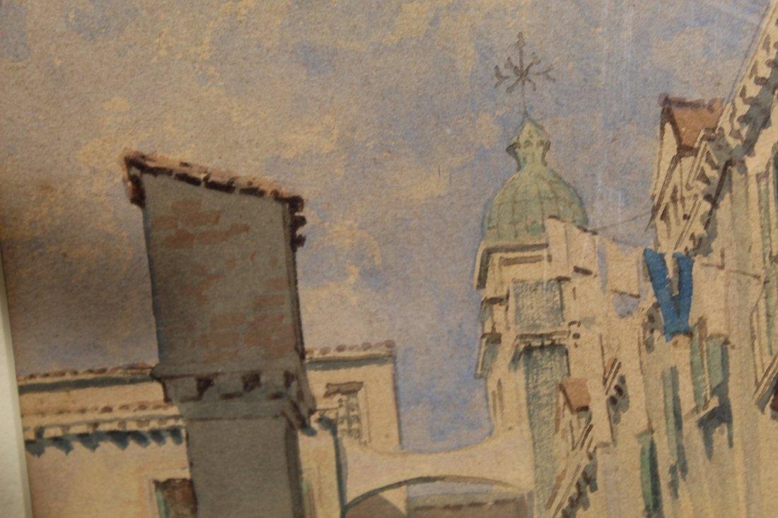 Original American or European cityscape watercolor - N - 8