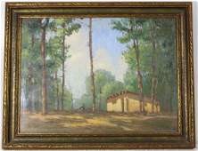 Original American landscape oil painting - R W Myrberg