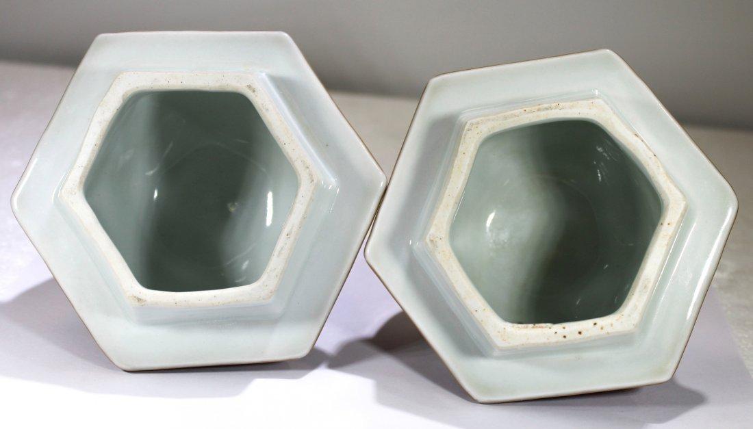 Pr. Japanese kakiemon style porcelain jars - 5