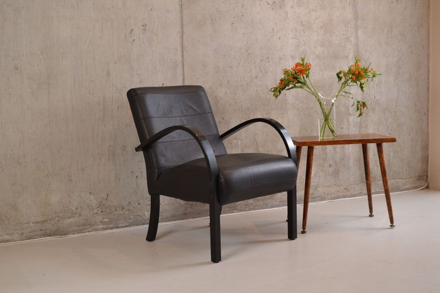 An original mid century leather chair