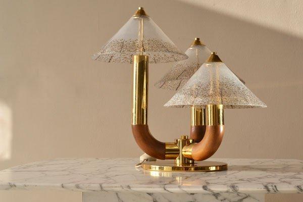 1970's Italian Murano glass side lamp