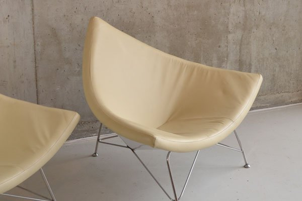 Pair 1970's 'Vitra style' easy chairs