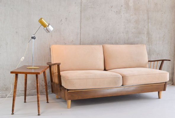 1970's German sofa converts to single bed