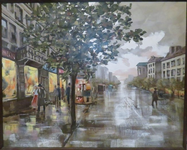 Lee Reynolds Signed Oil Painting, Mid-Century