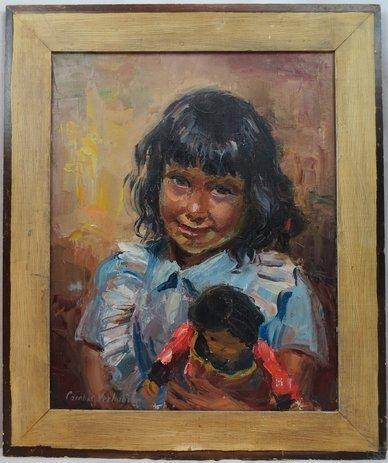 Original Carolus Constantinus Verhaeren Oil Painting