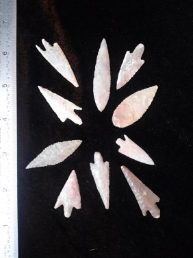 10 GEM QUALITY NEOLITHIC POINTS