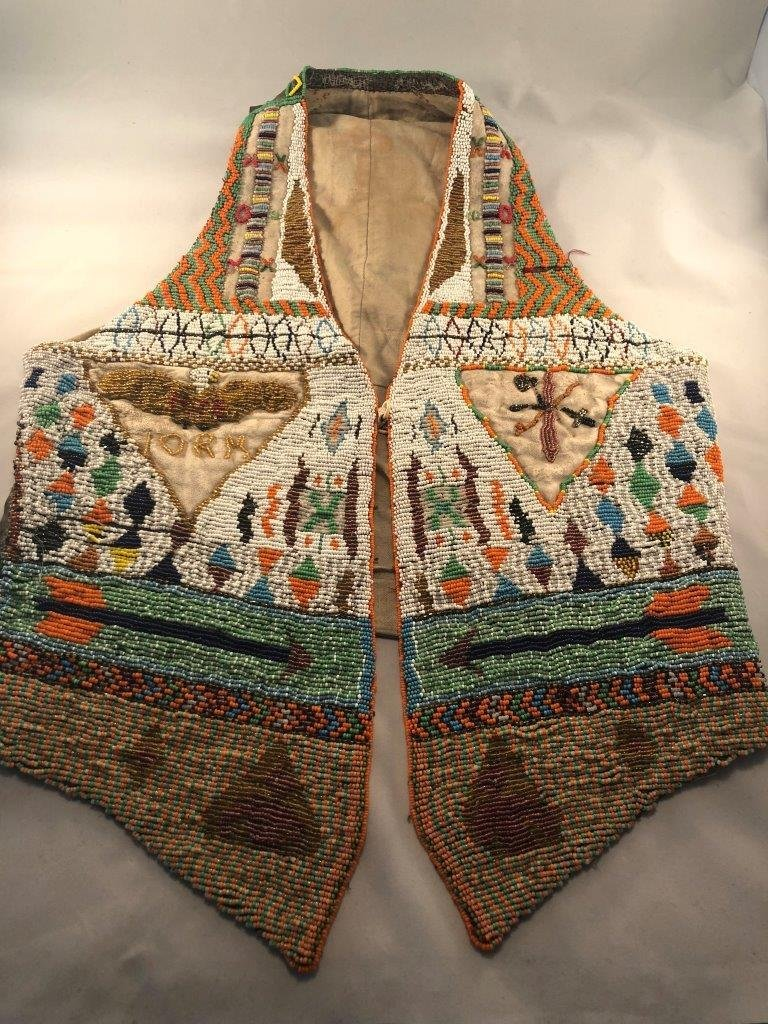 BEADED VEST   INDIAN ARTIFACT ARROWHEAD