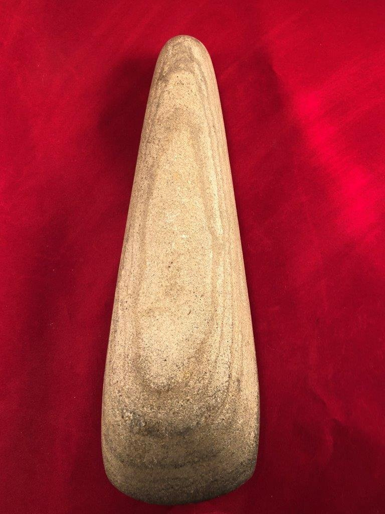 LARGE POLE CELT   INDIAN ARTIFACT ARROWHEAD - 2