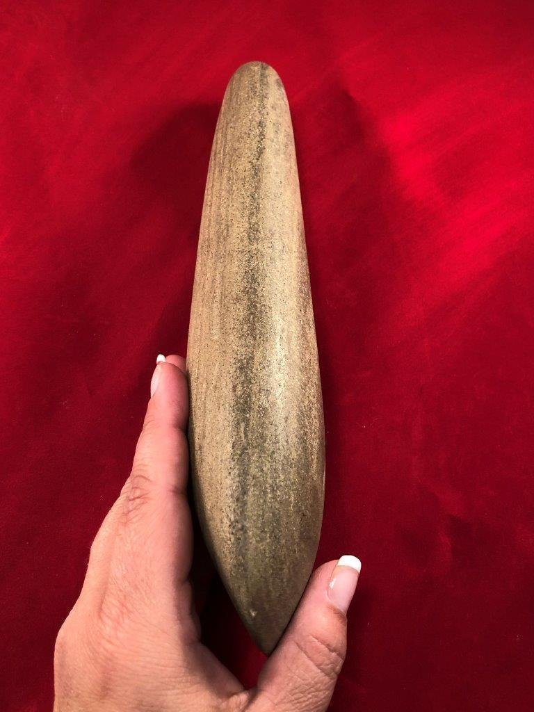 LARGE POLE CELT   INDIAN ARTIFACT ARROWHEAD - 3