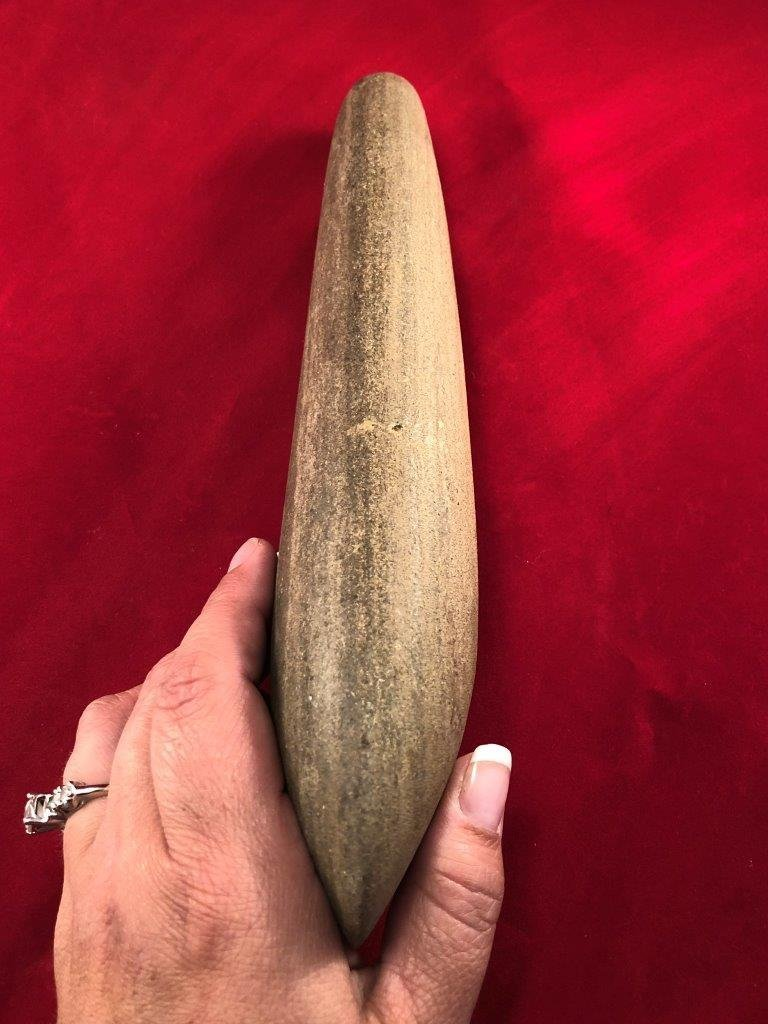 LARGE POLE CELT   INDIAN ARTIFACT ARROWHEAD - 4